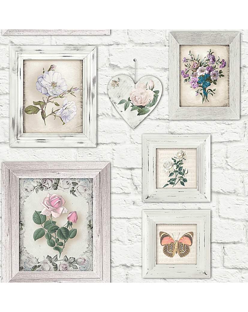 Fresco Brick Floral Frames