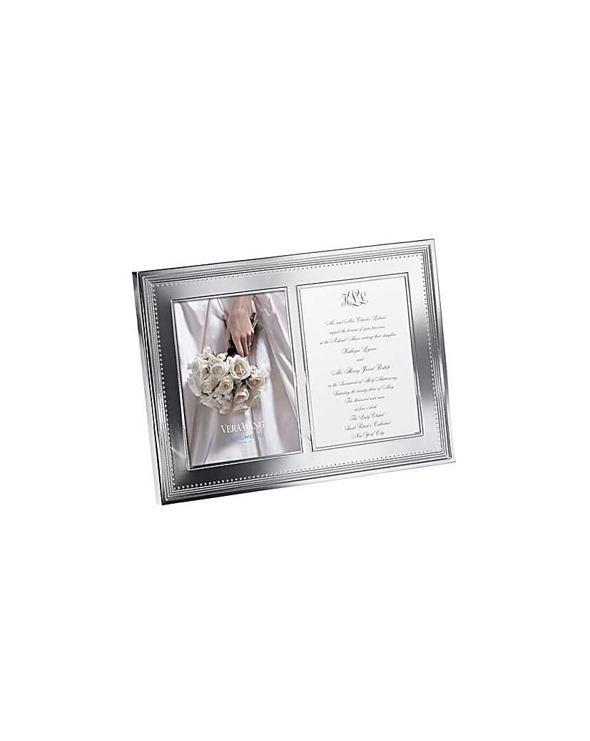 Image of Vera Wang Grosgrain Dbl Invitation Frame