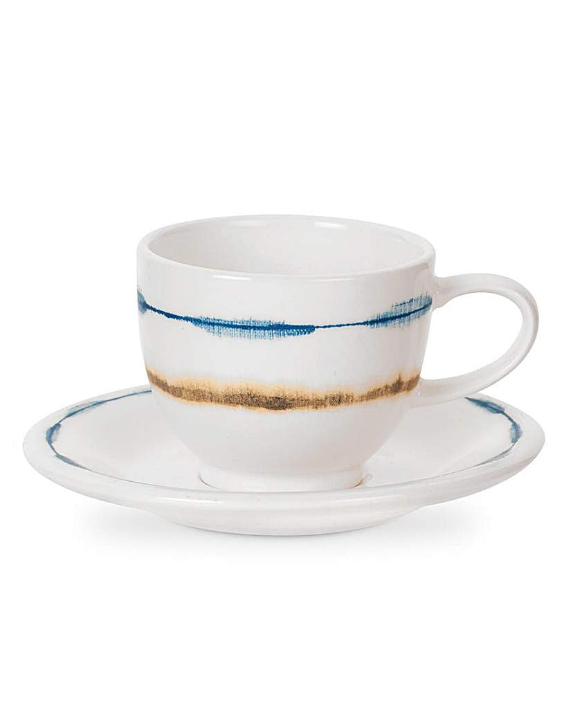Image of Portmeirion Coast Coffee Cup& Saucer x 4