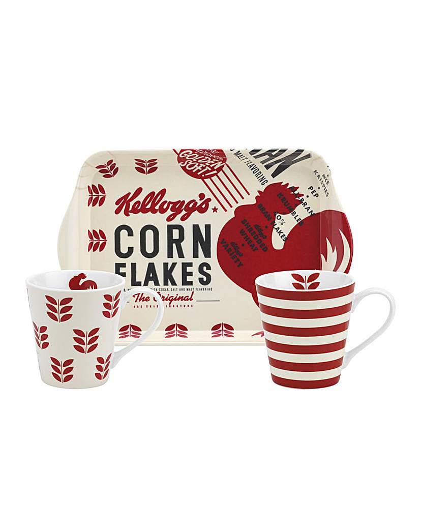 Image of Vintage Kellogg's Sunrise Mug & Tray Set