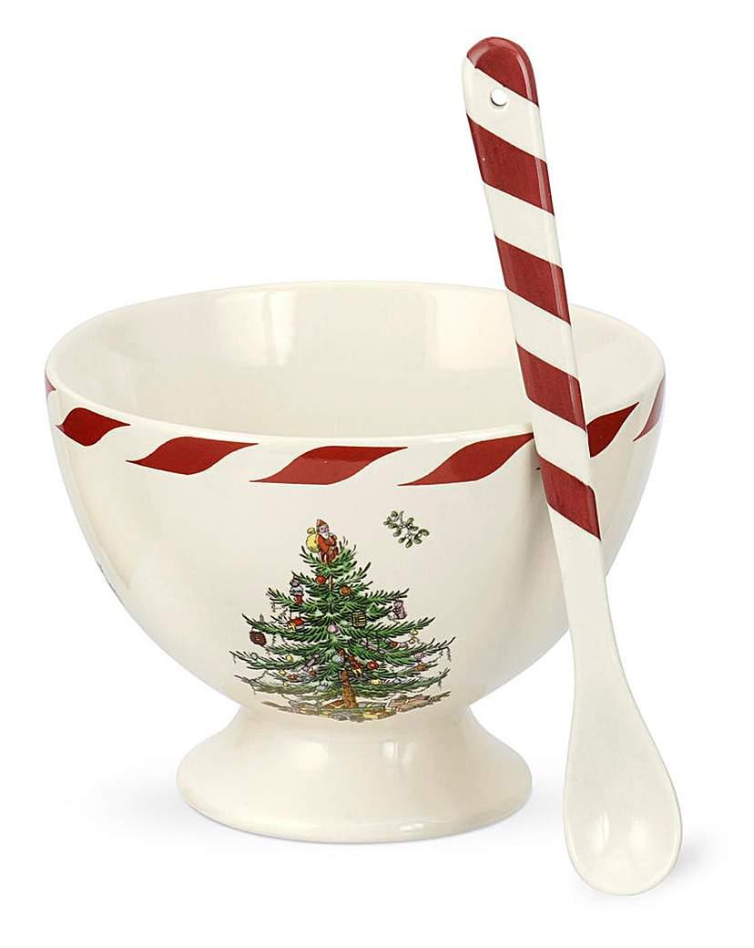 Spode Christmas Tree Sorbet With Spoon