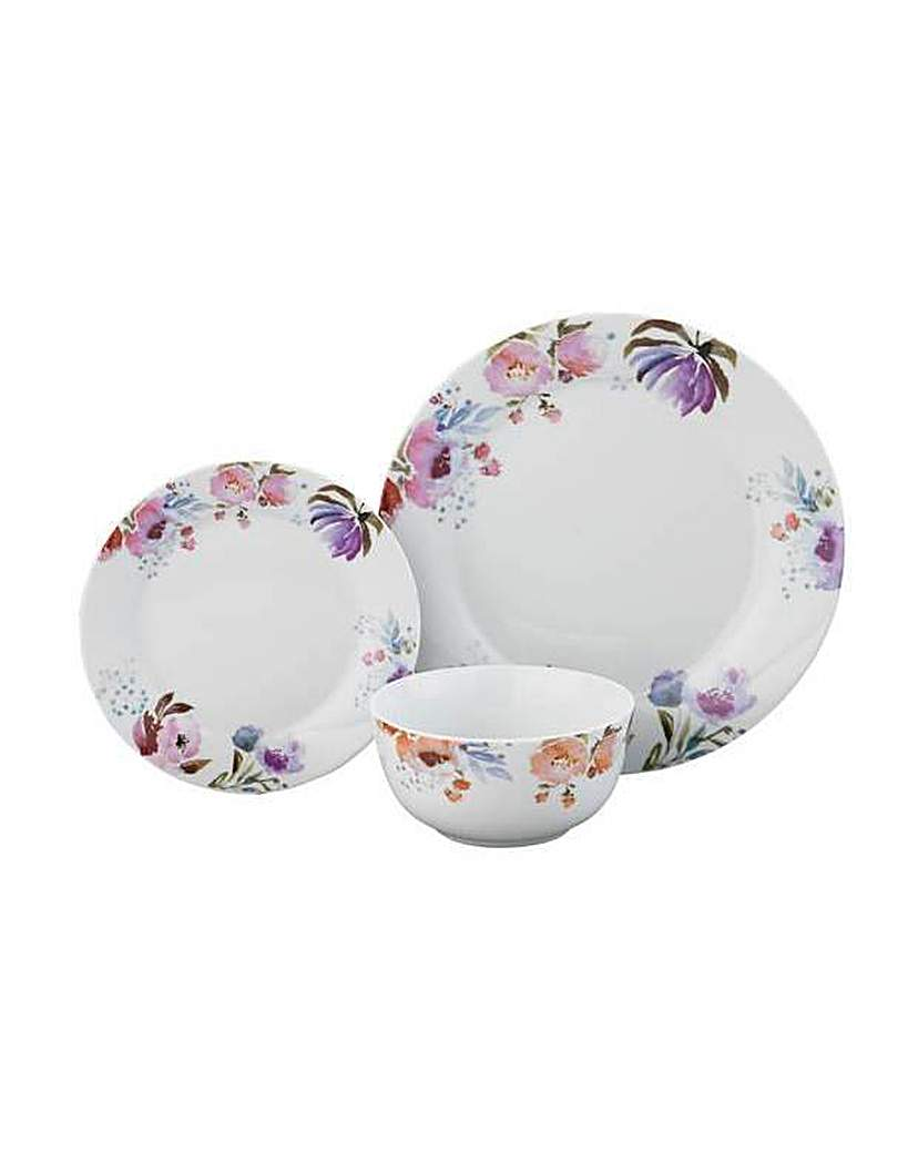 Image of 12 Piece Forest Frost Dinner Set.