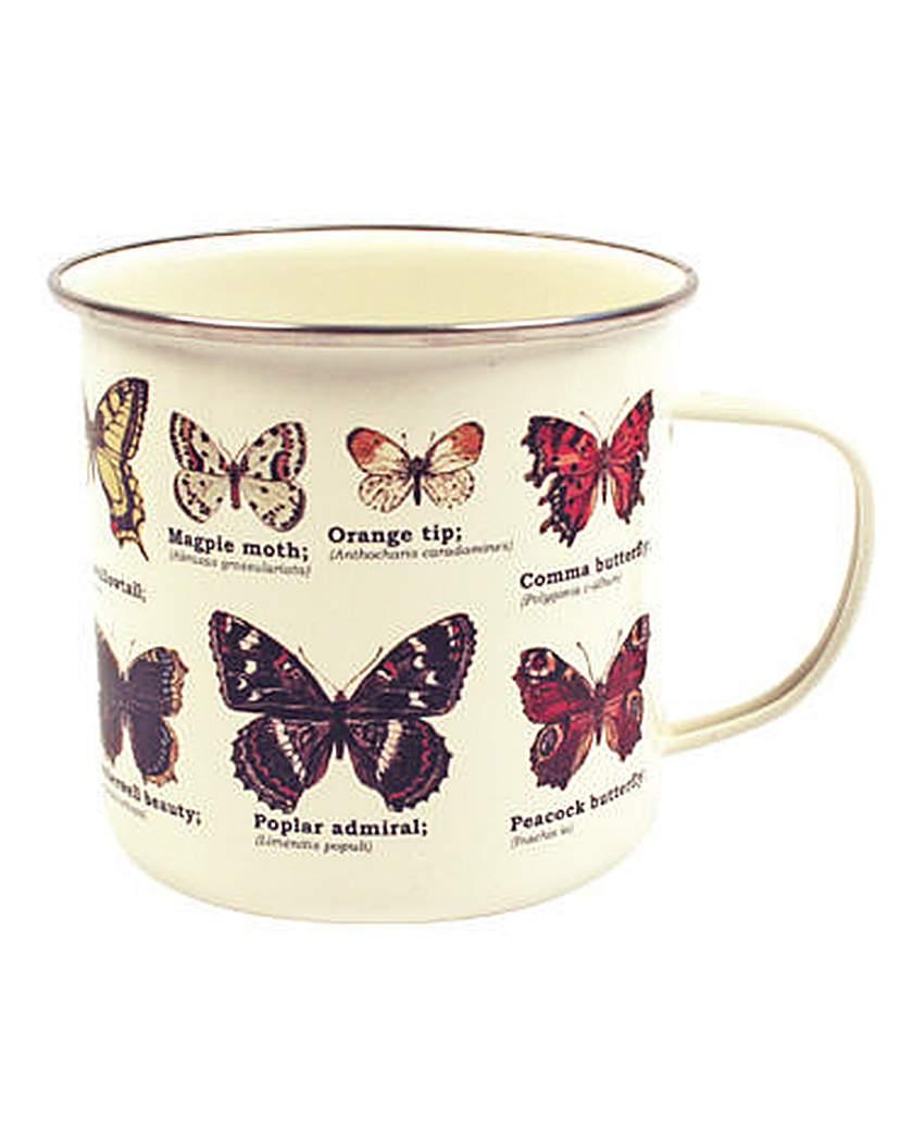 Image of Butterly Enamel Mug