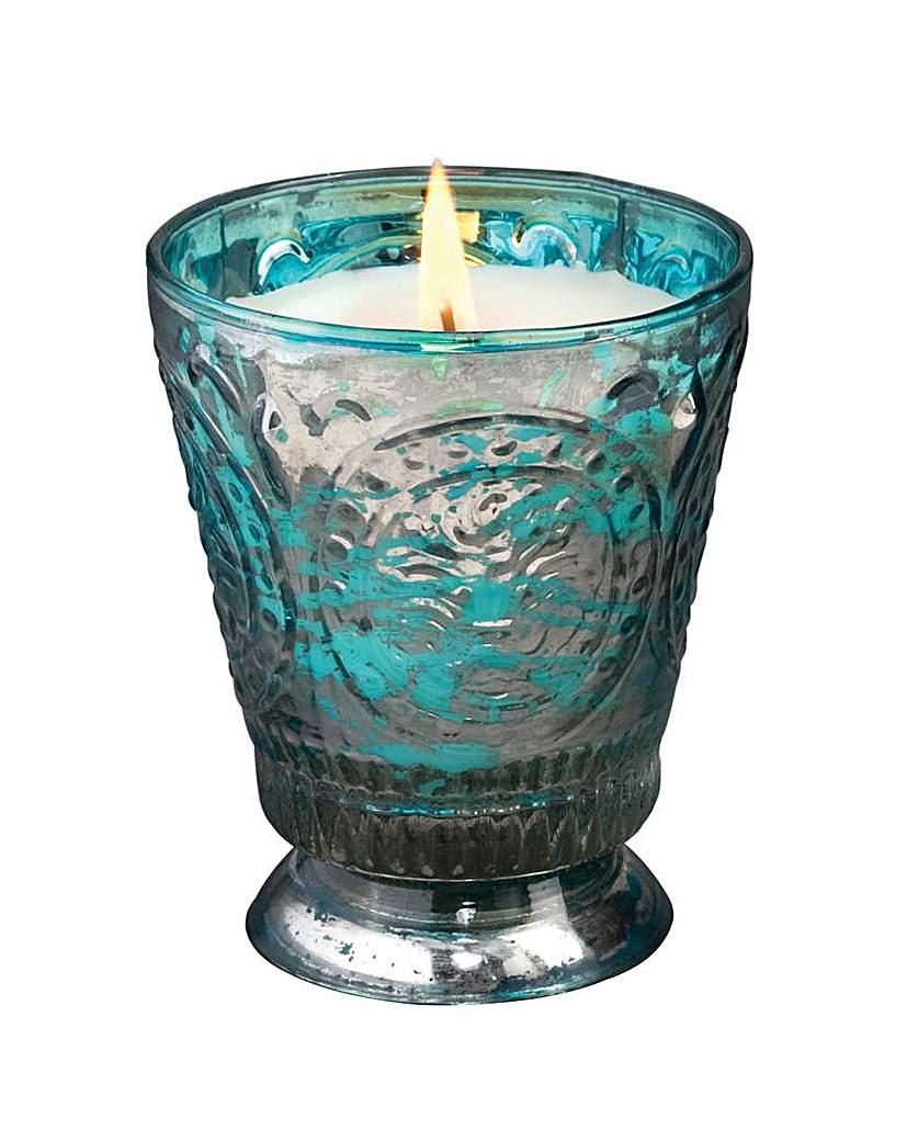 Image of Himalayan Candles Fleur De Lys Turquoise