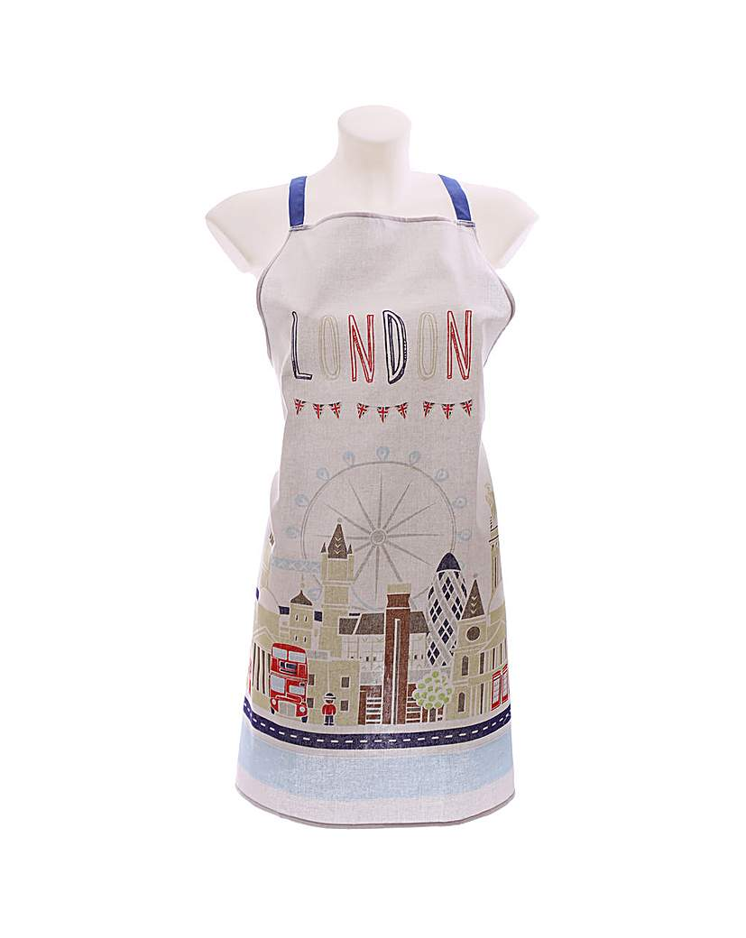 Image of Fun Kitchen Apron - London Icons Design