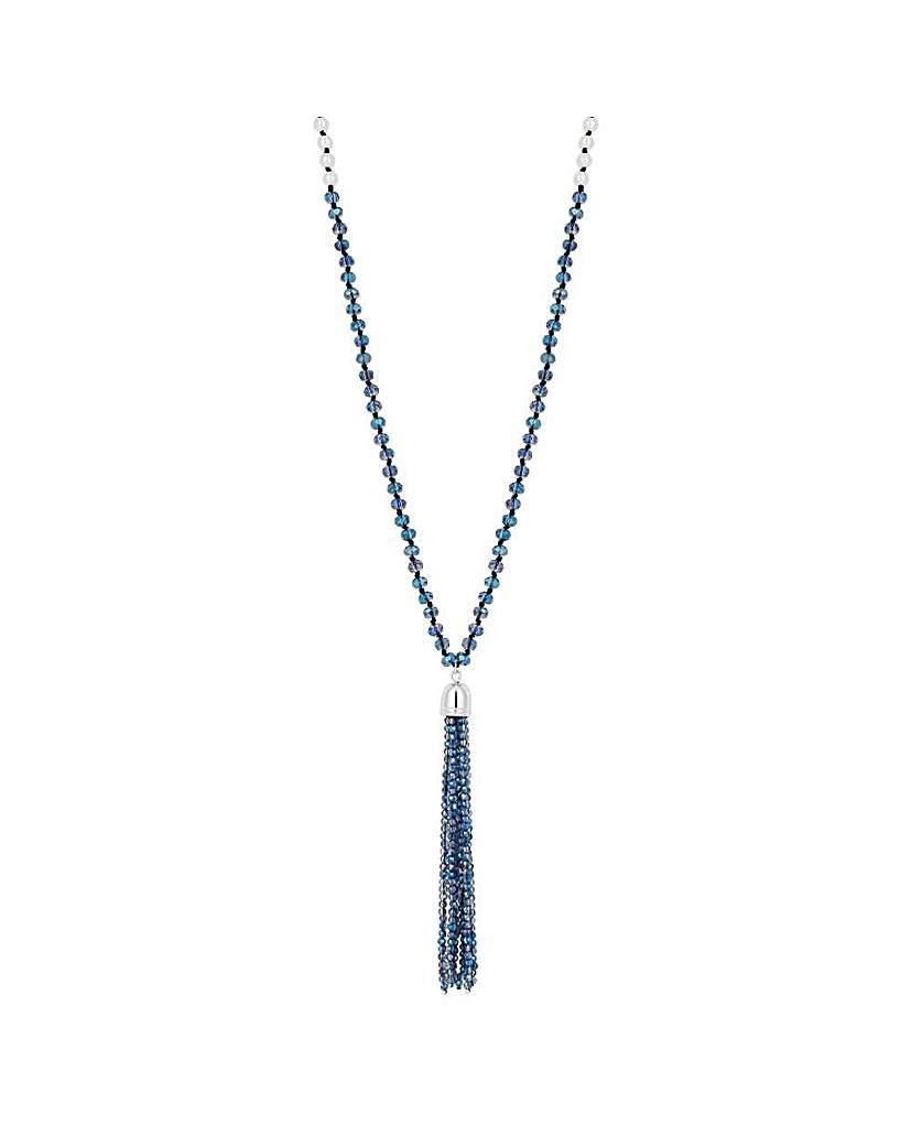 Jon Richard bead pearl tassel necklace