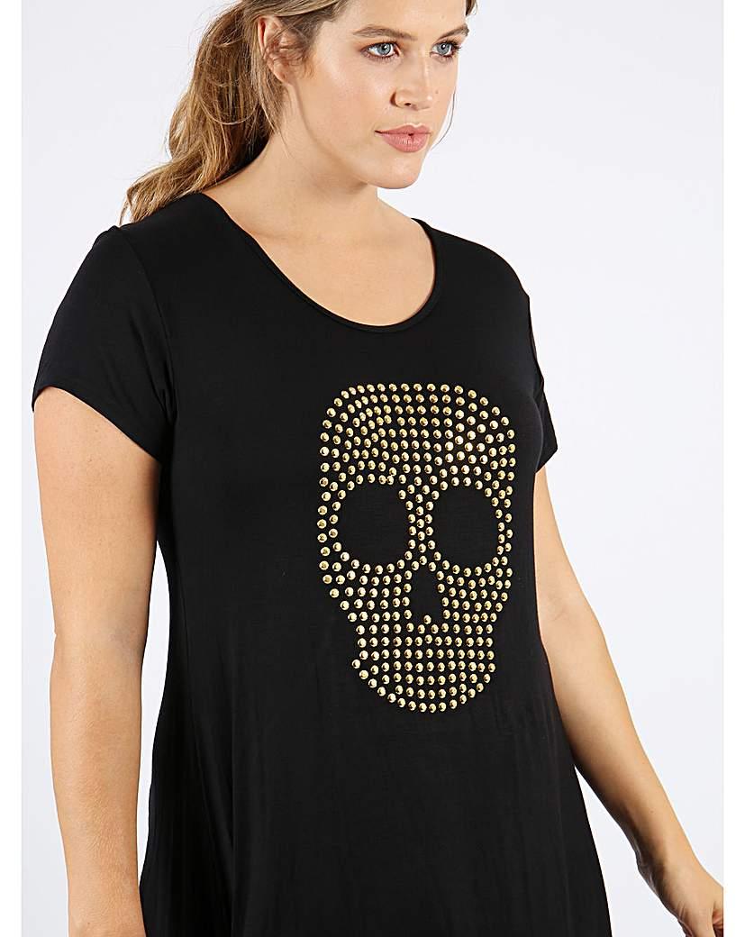 Koko Black and Gold Skull Top