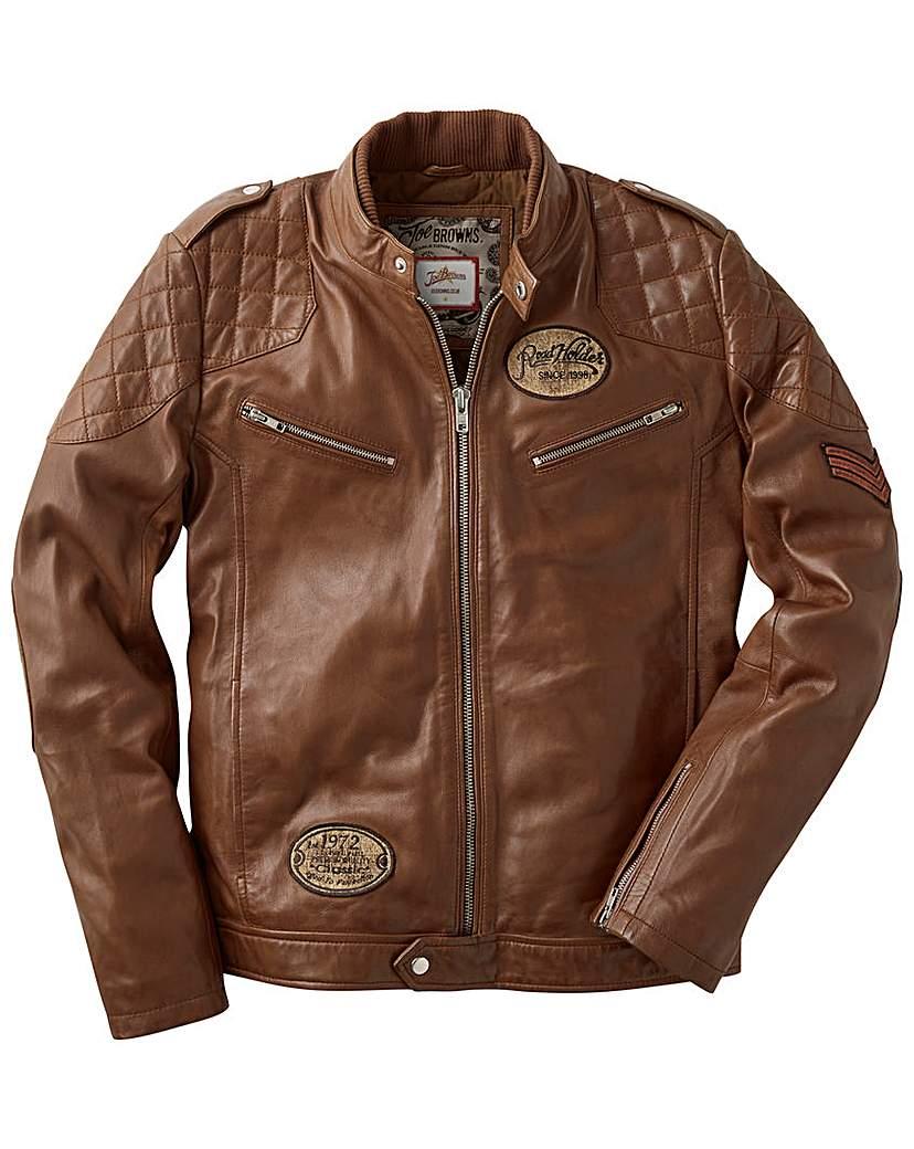 Joe Browns Leather Jacket Regular.