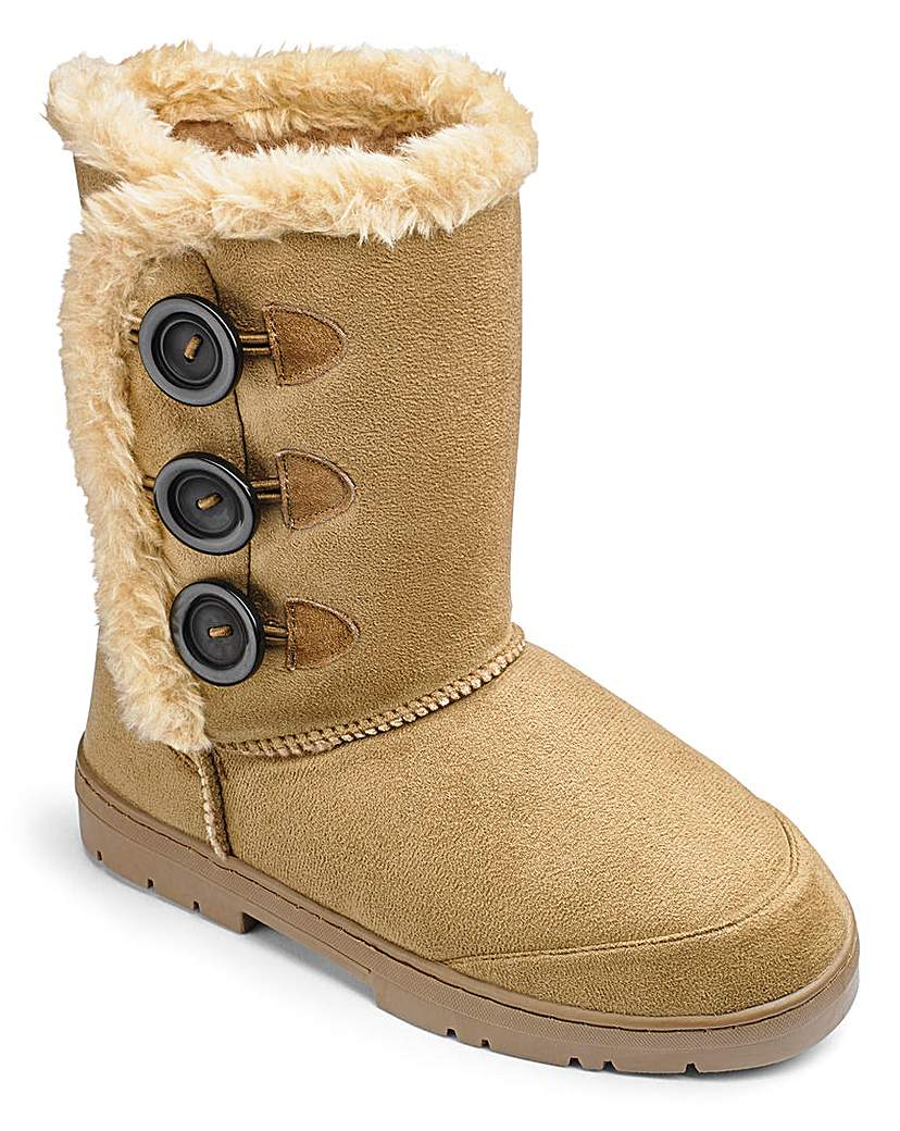 Warm Ankle Boots E Fit