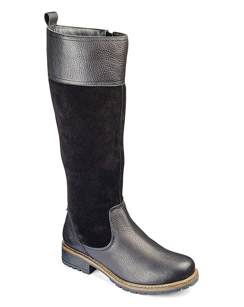 Heavenly Soles Boots EEE Fit Curvy Calf