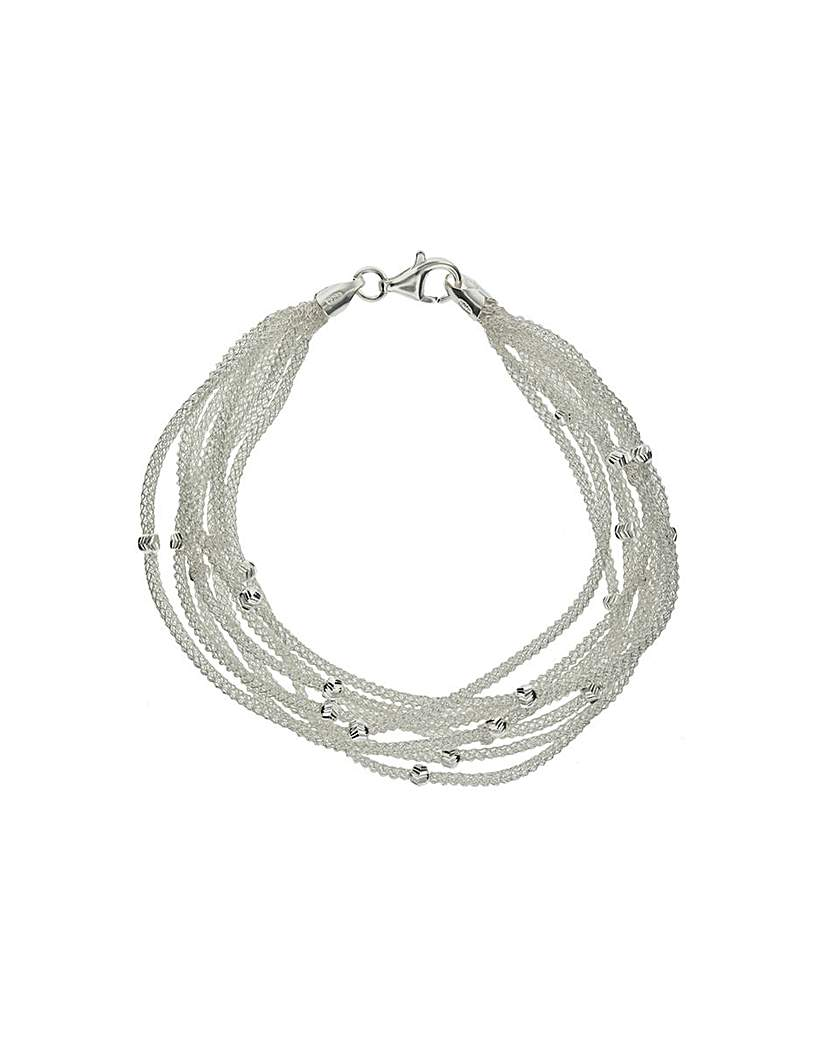 Image of Sterling Silver 8 Strand Bracelet