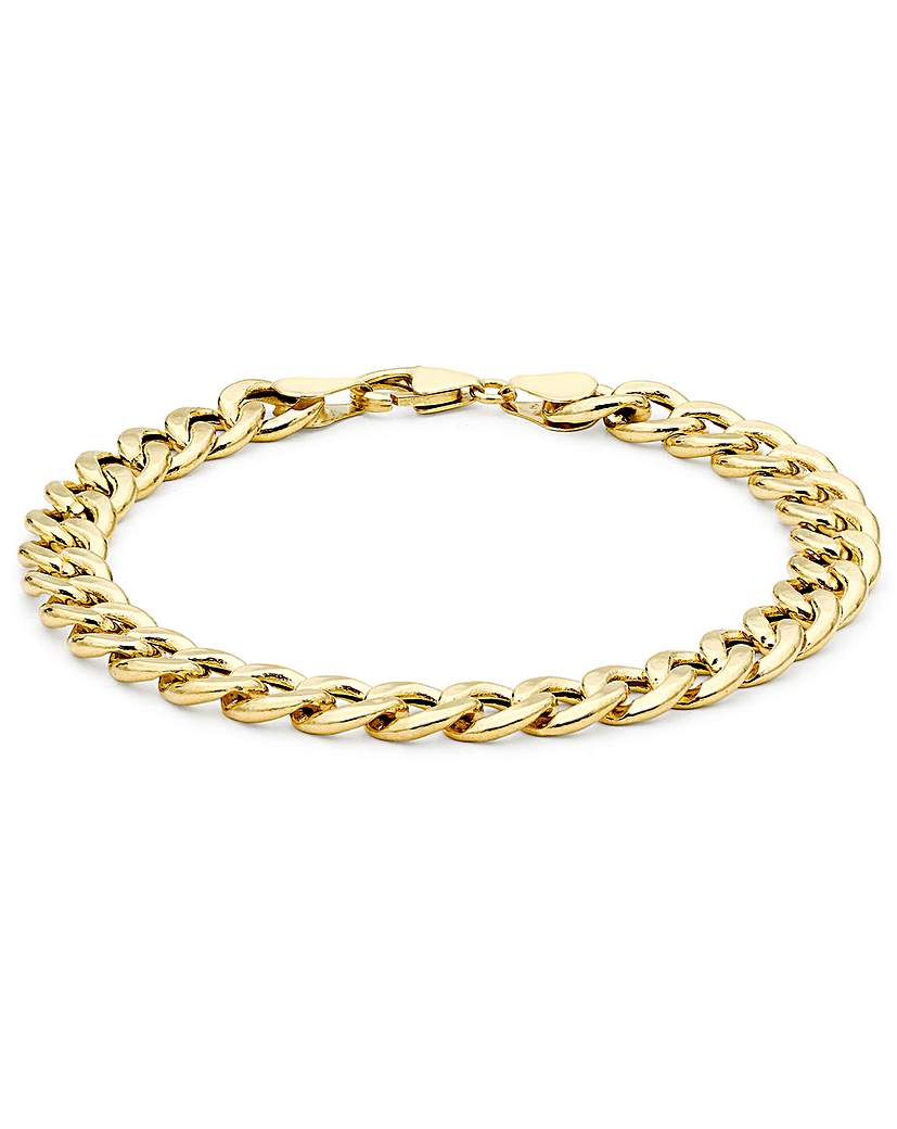 9ct Gold 1/4oz Curb Bracelet