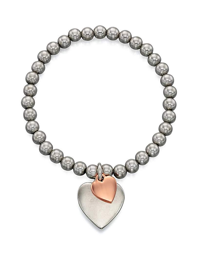 Double Heart Stretch Bracelet