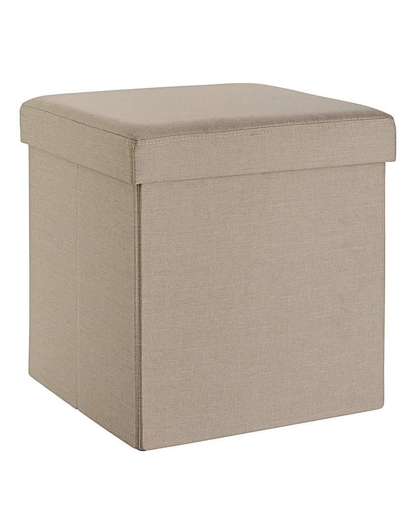 Fabric Storage Seat Square Natural