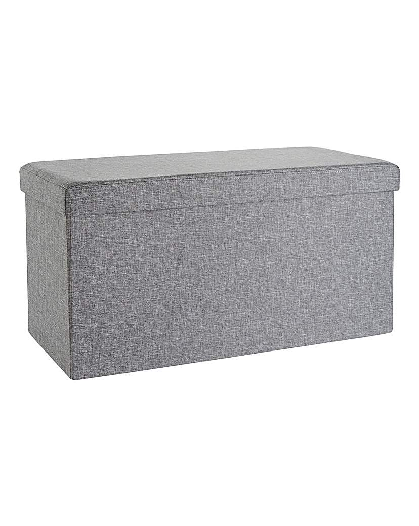 Fabric Folding Storage Seat Rectangle