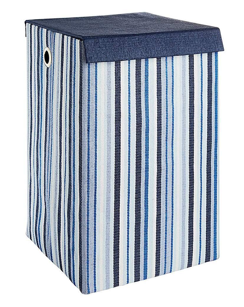 Oslo Stripe Foldable Laundry Basket