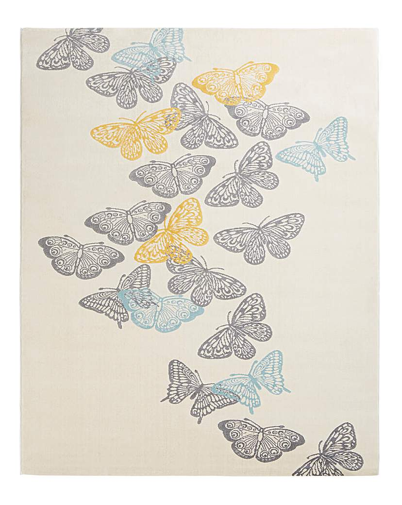 Butterflies Carved Large Rug
