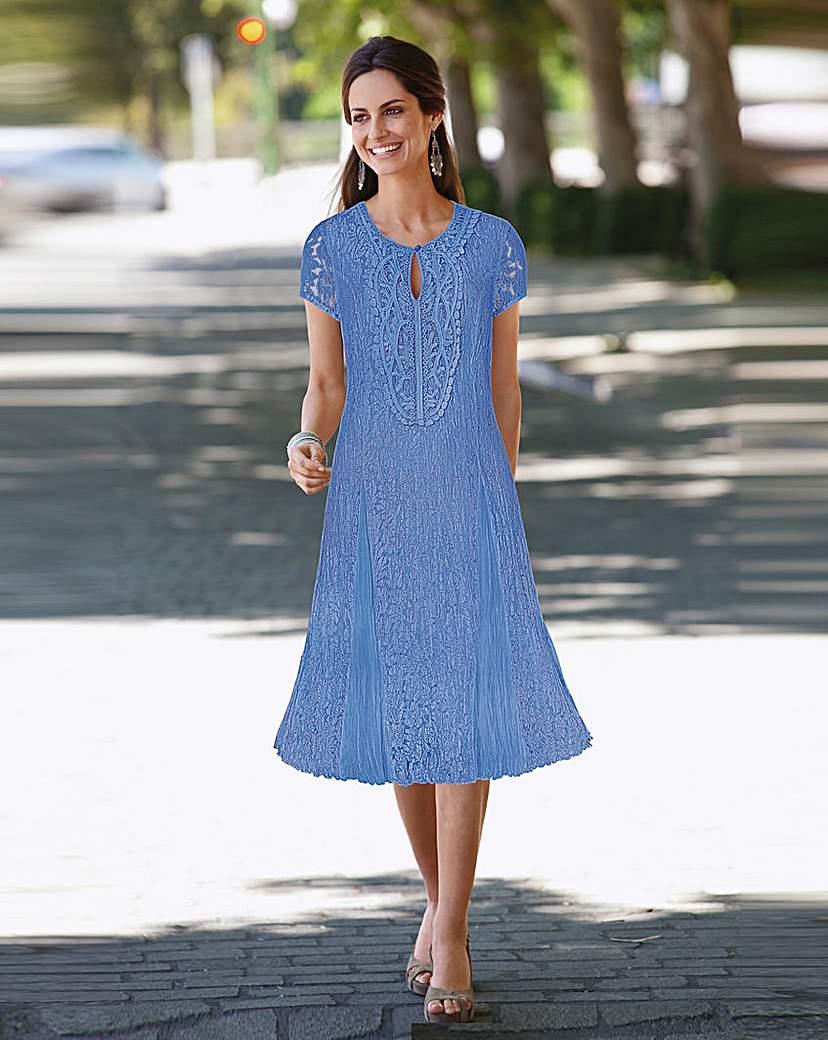 Together Applique Trim Lace Dress