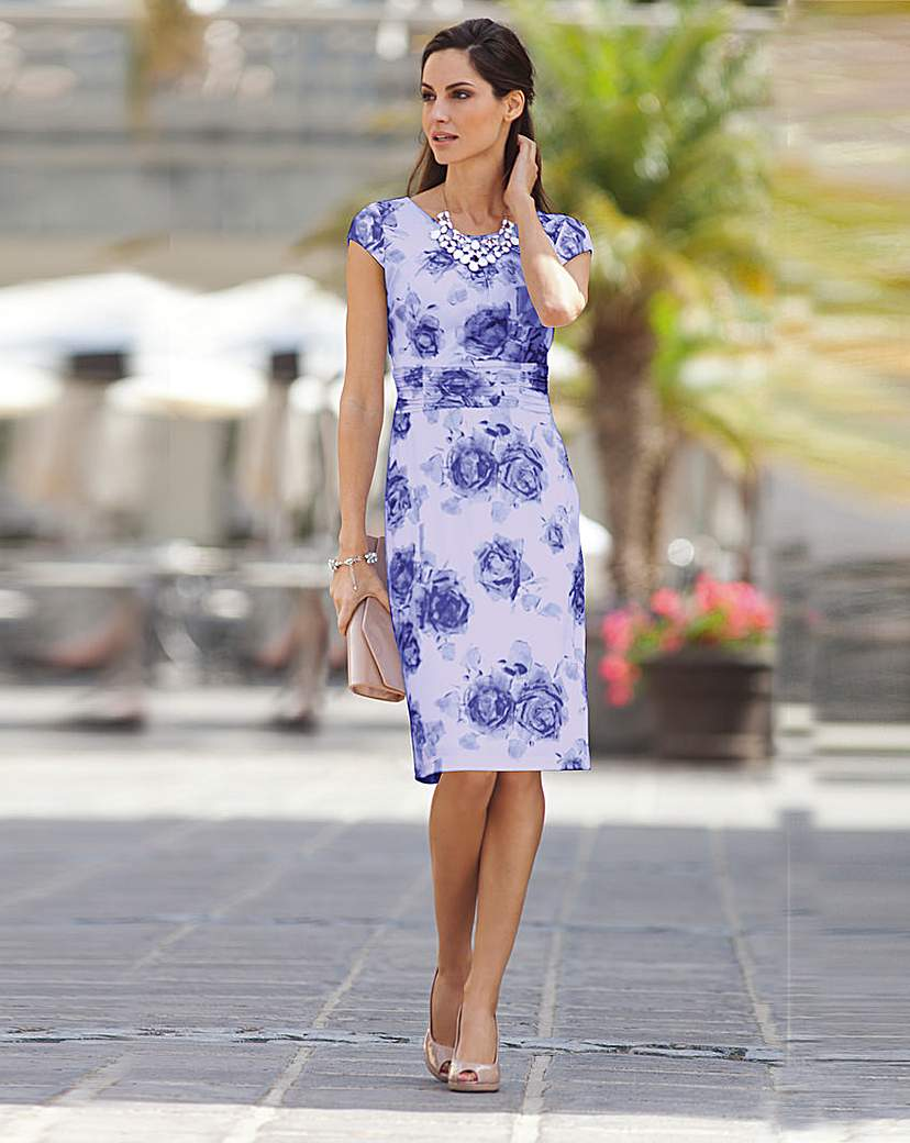 Image of Together Print Jersey Dress