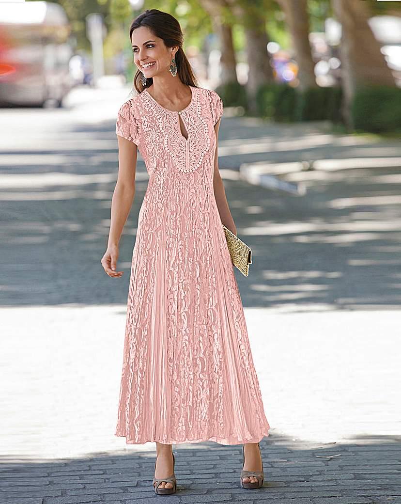 Together Applique Trim Lace Maxi Dress £65.00 AT vintagedancer.com