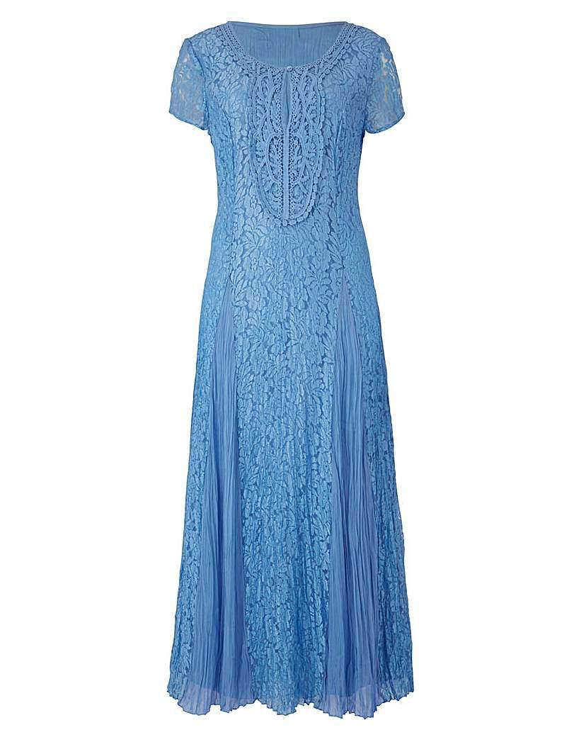 Together Applique Trim Lace Maxi Dress.
