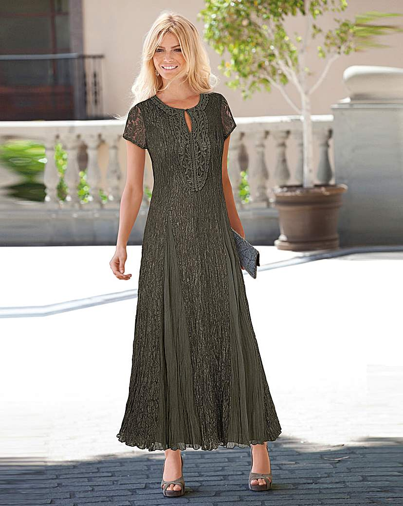 Together Applique Trim Lace Maxi Dress.