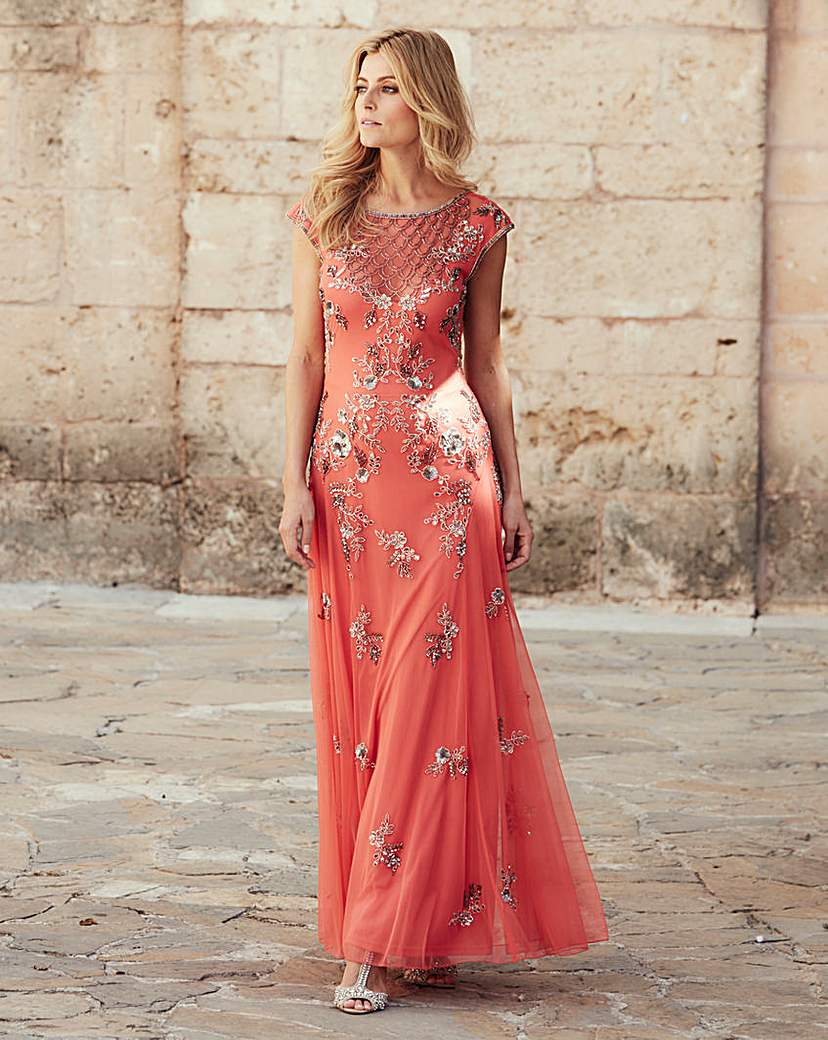 JOANNA HOPE Embellished Maxi Dress £165.00 AT vintagedancer.com