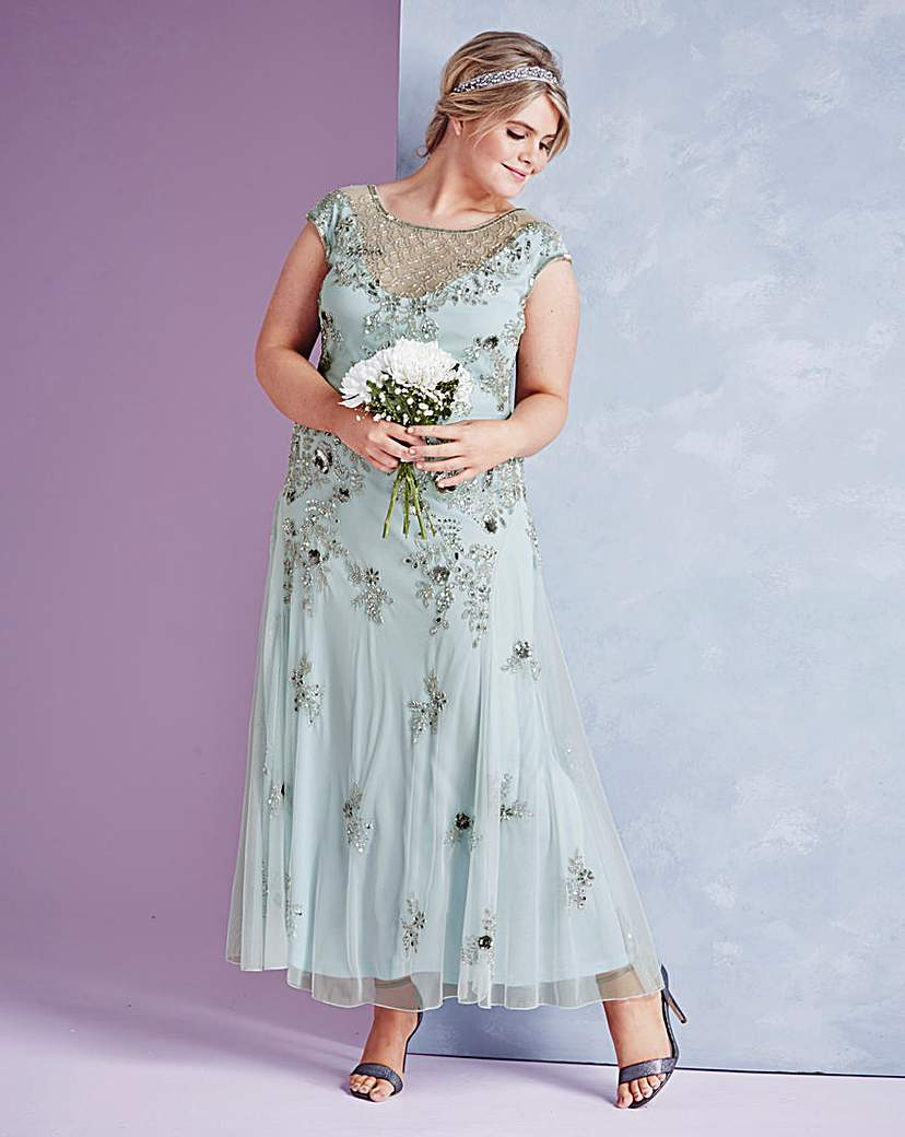 1930s Day Dresses, Afternoon Dresses History JOANNA HOPE Embellished Maxi Dress £84.25 AT vintagedancer.com
