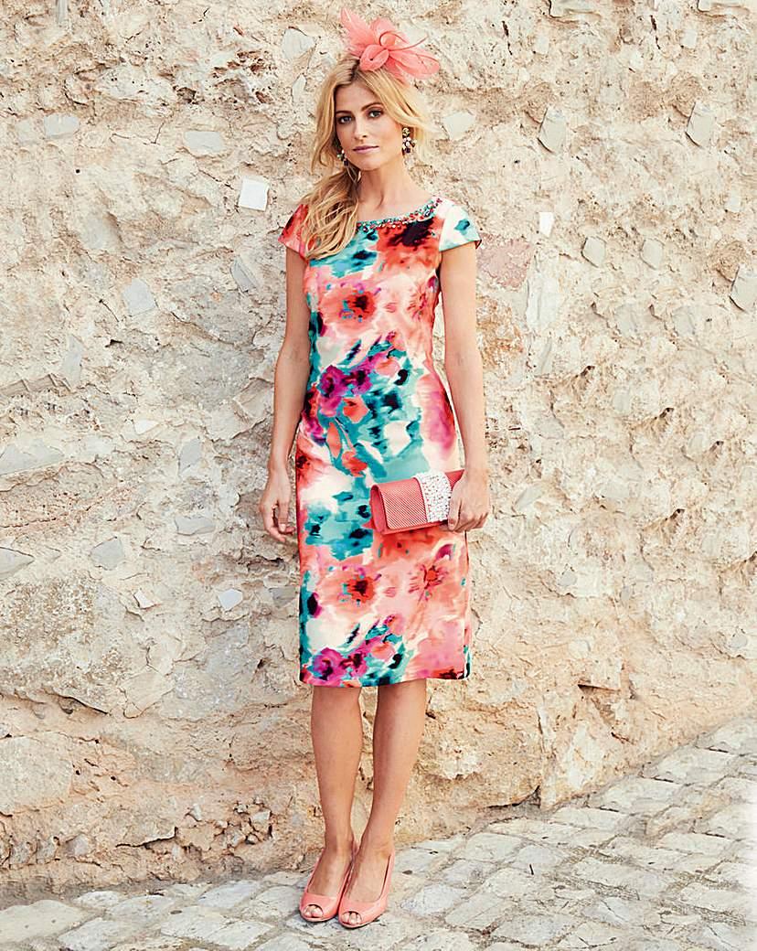 JOANNA HOPE Print Shift Dress.