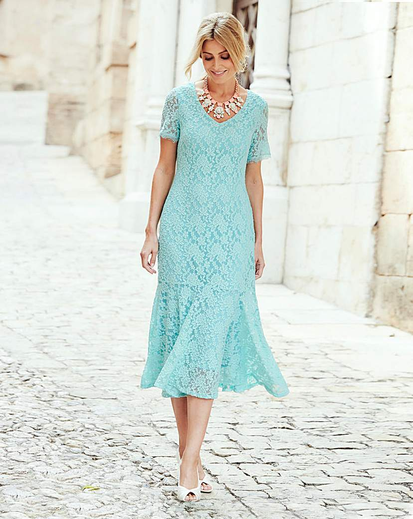 JOANNA HOPE Lace Dress £55.00 AT vintagedancer.com