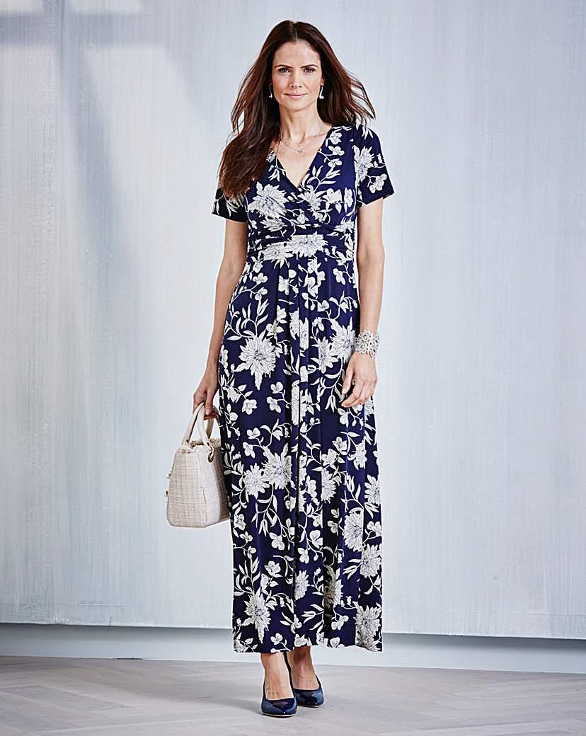 1930s Style Fashion Dresses JOANNA HOPE Print Dress £16.00 AT vintagedancer.com