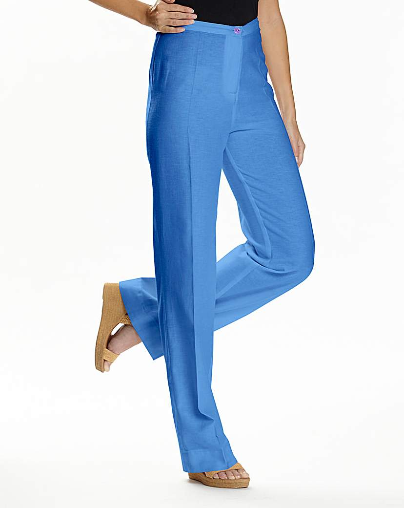 JOANNA HOPE Linen Blend Trousers 33in.