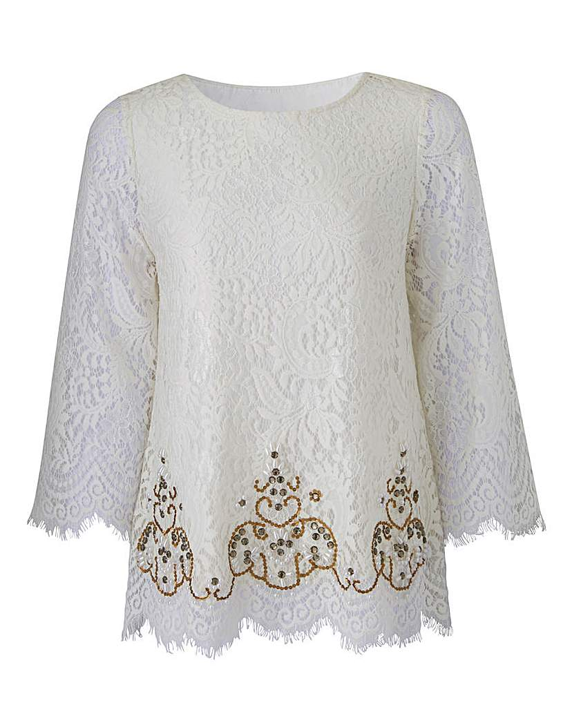 Edwardian Style Blouses Together Lace Top £29.50 AT vintagedancer.com