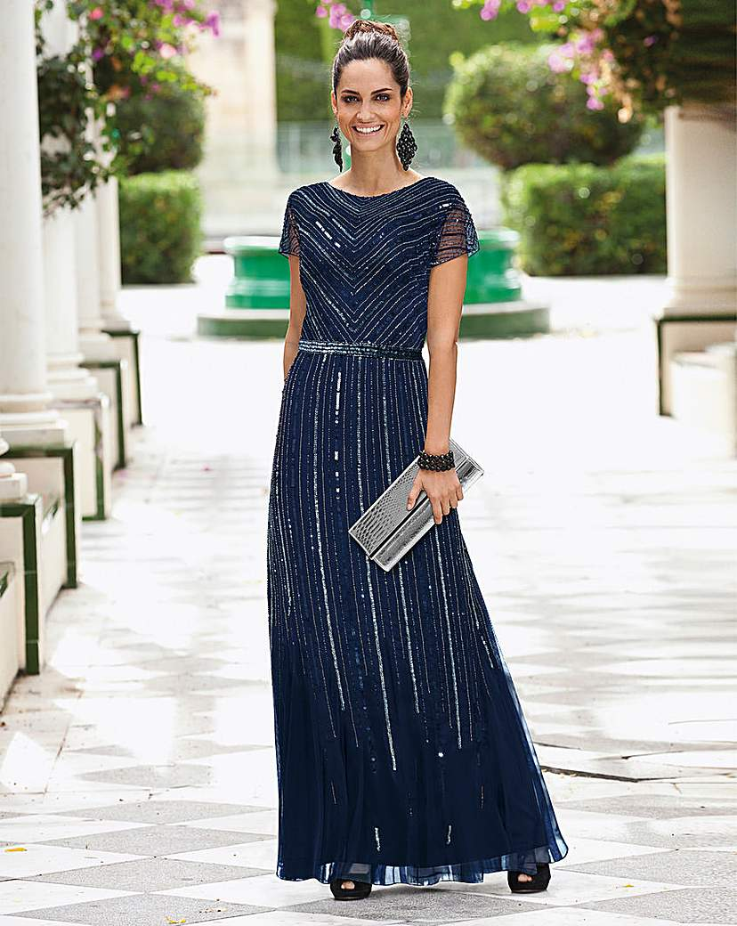 Together Beaded Maxi Dress