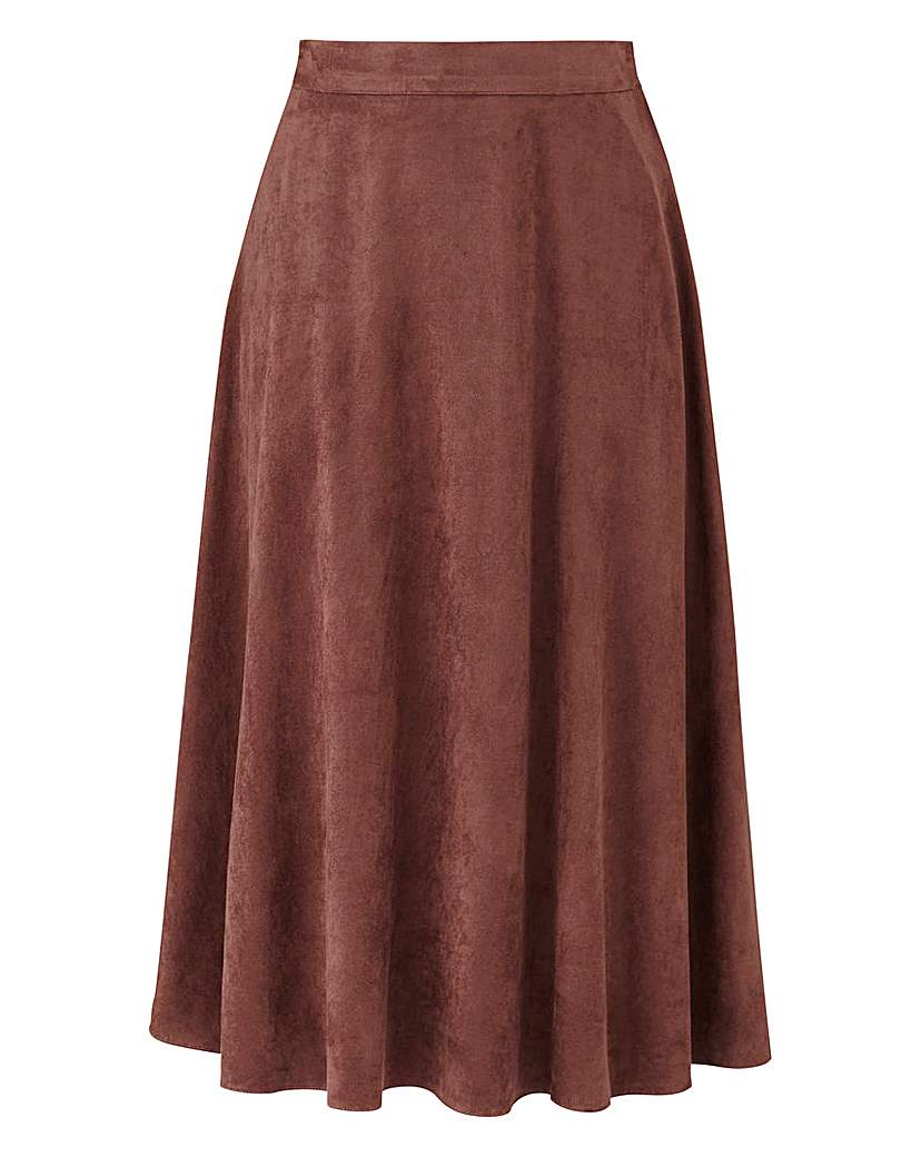 Joanna Hope Mock Suede Skirt