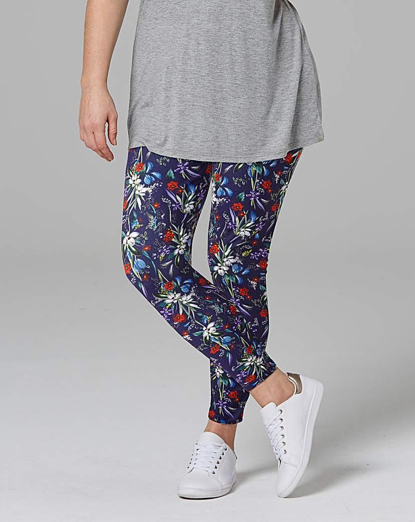Floral Print Jersey Leggings Regular