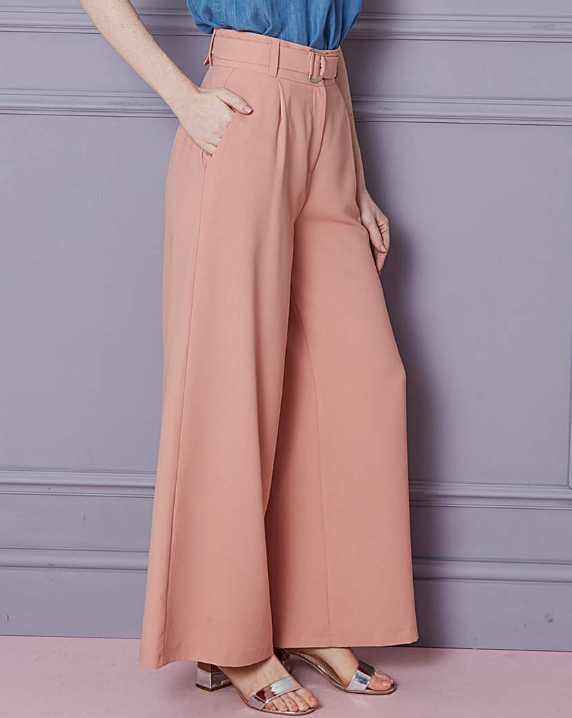 Wide Leg D Ring Belted Trousers Reg.