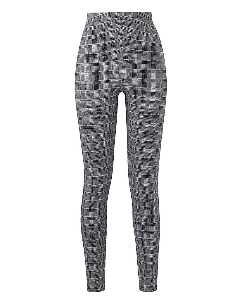 Jacquard Check Leggings