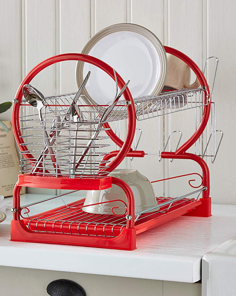 Image of 2-Tier Dishdrainer Red