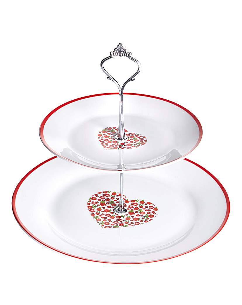 Image of Red Folk Cake Stand