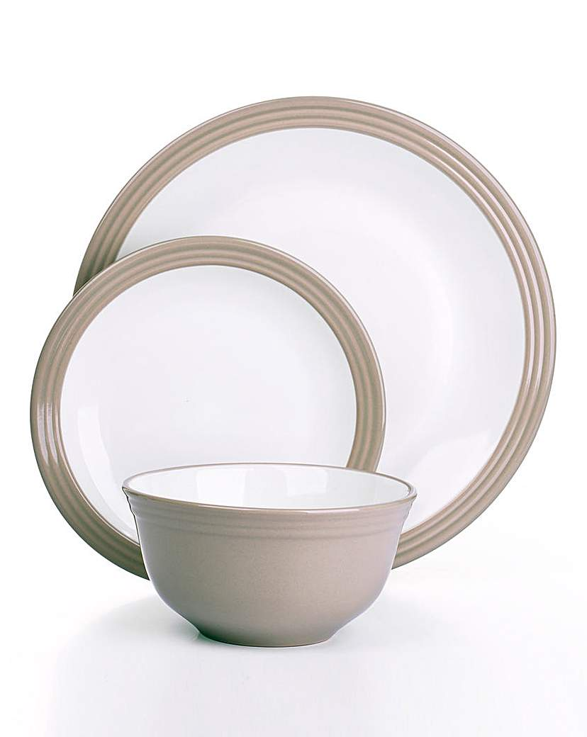 Image of 12-Piece Camden Dinner Set Taupe