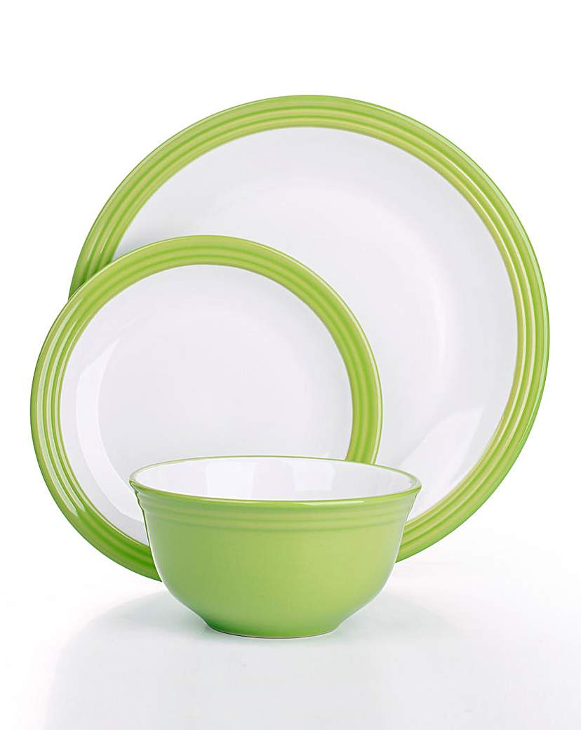 Image of 12-Piece Camden Dinner Set Lime Green