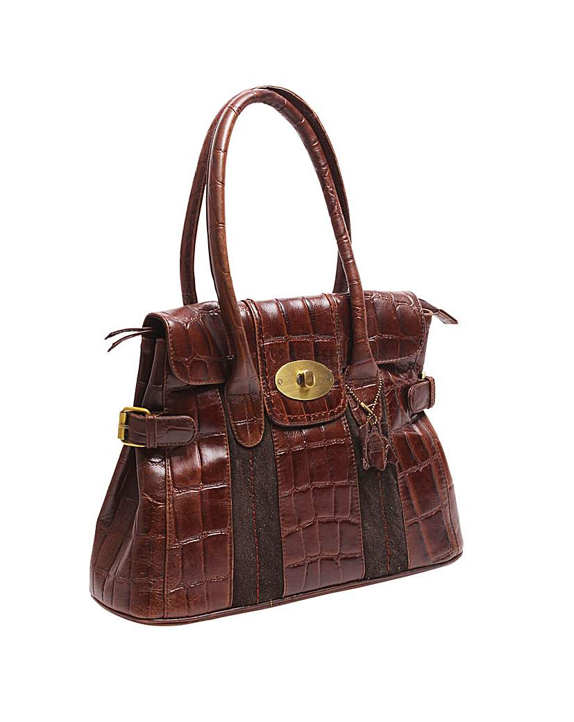 Image of Blousey Brown Leather Handbag