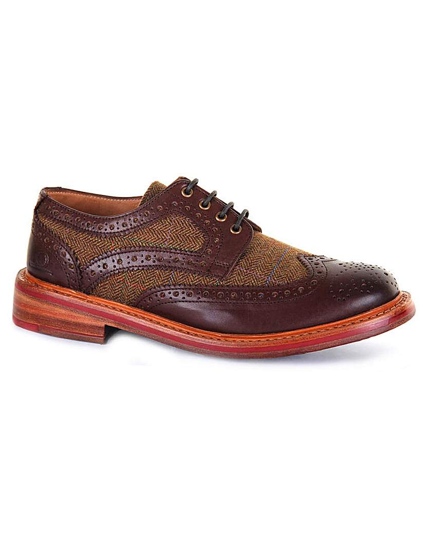 1950s Style Mens Shoes Chatham Lewis II Tweed Brogues £175.00 AT vintagedancer.com