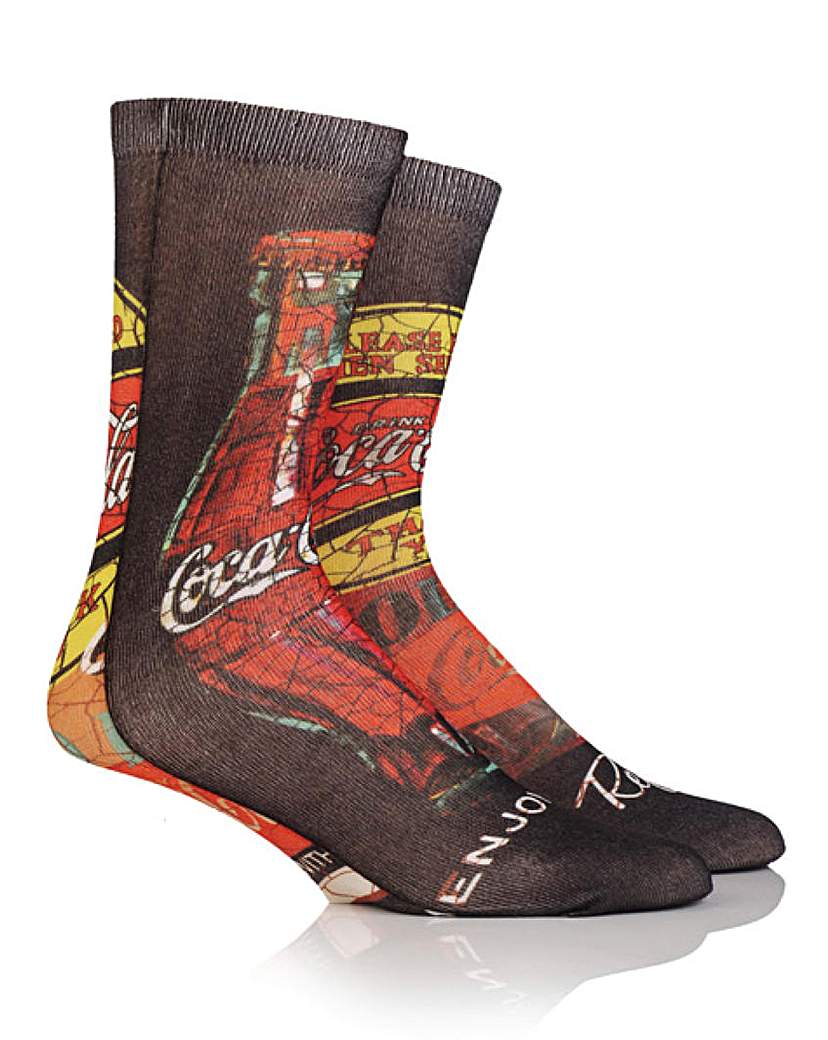 Coca Cola Printed Socks