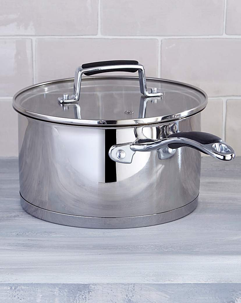 Image of Bistro Stainless Steel 20cm Saucepan