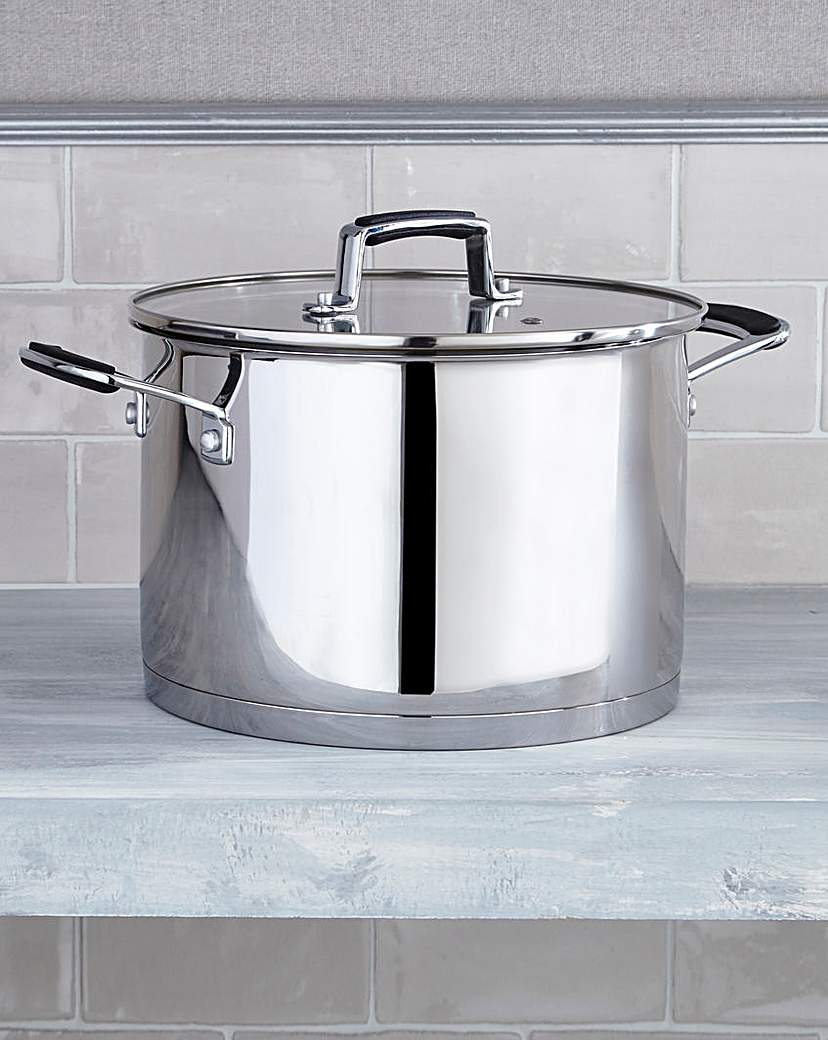 Image of Bistro Stainless Steel 24cm Stock Pot