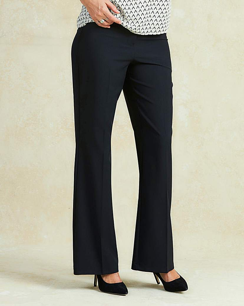 Wide Leg Bi-Stretch Trousers Regular.