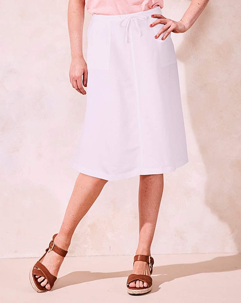 Image of Linen Mix Skirt