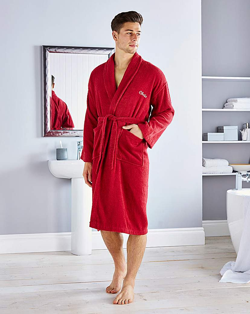 Image of Personalised Gents Towelling Robe